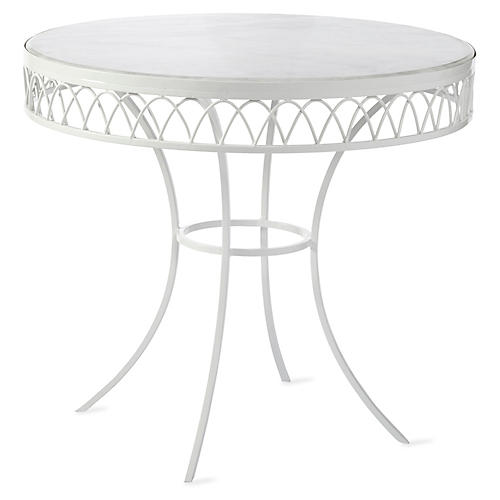 Linden Bistro Table, White