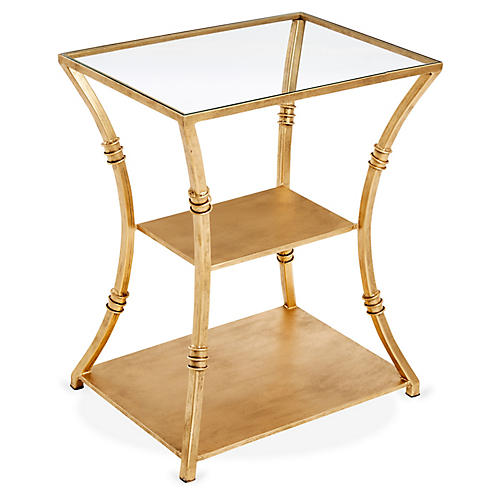 Silas Side Table, Gold