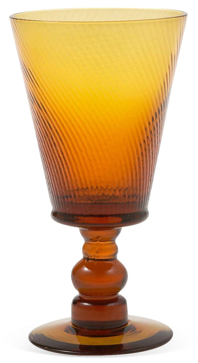 S/6 Roma Goblets, Amber