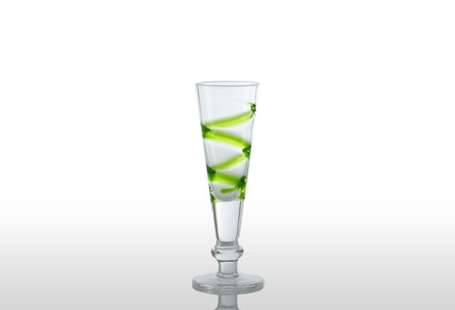 S/6 Crazy Shot Glasses, Green