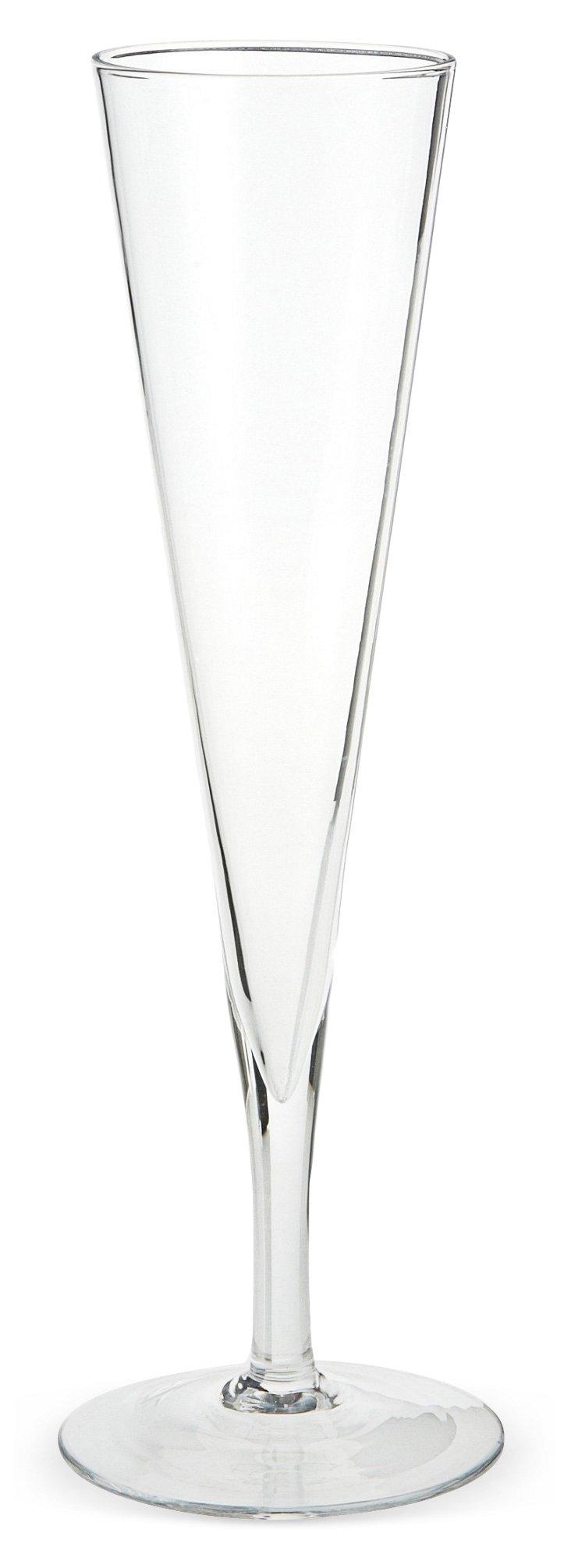 S/6 Vintage-Style Champagne Flutes