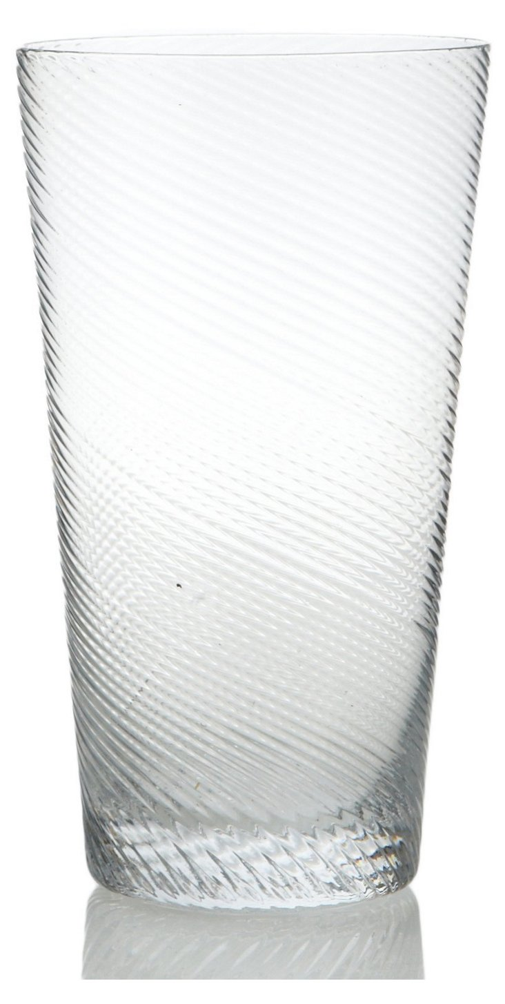 S/6 Roma Highball Glasses, Clear