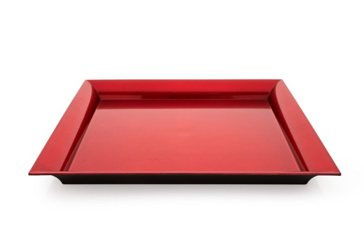 Mimi Tray Square Red