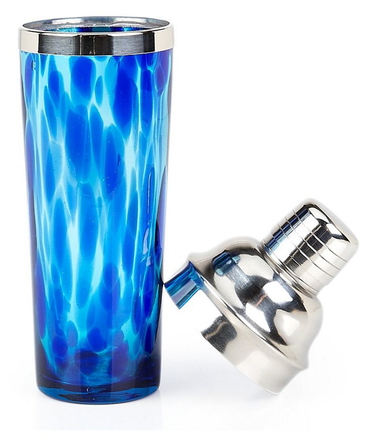 Hamptons Cocktail Shaker, Blue