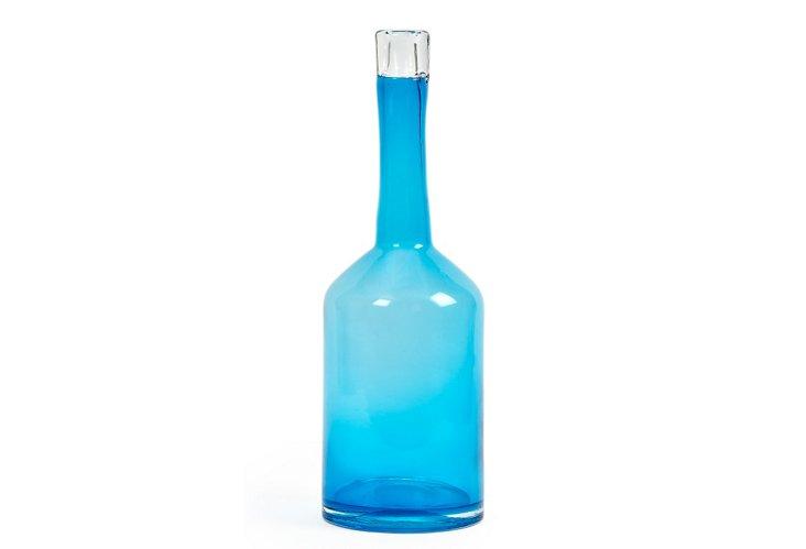 """14"""" Napoli Vase, Aqua"""
