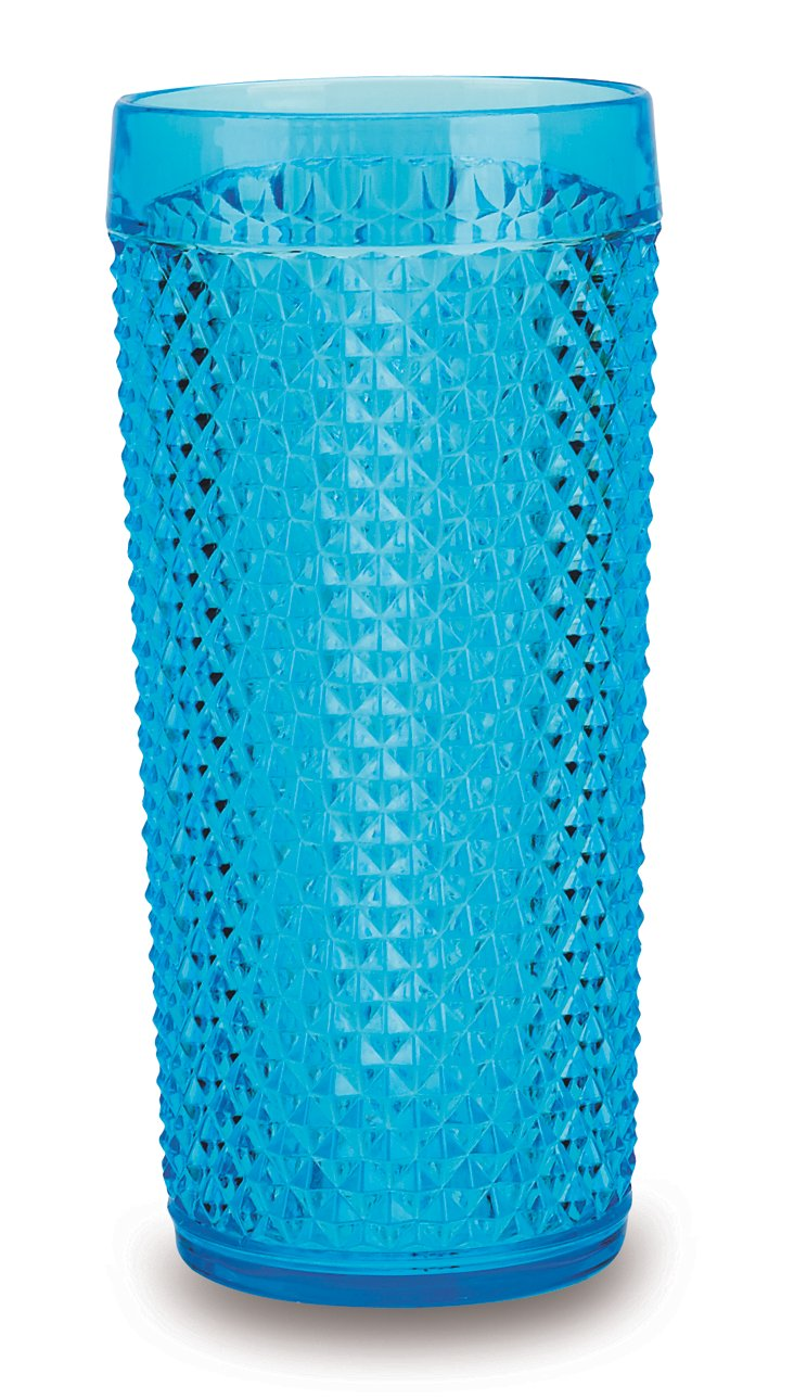 S/6 San Remo Highball Glasses, Aqua