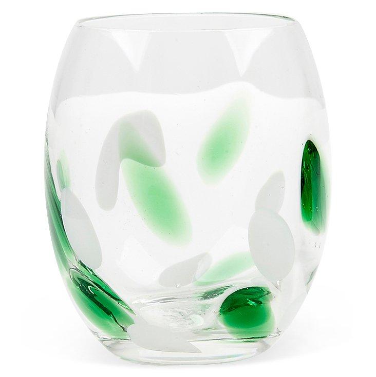 S/4 Cloud Rocks Glasses, Green