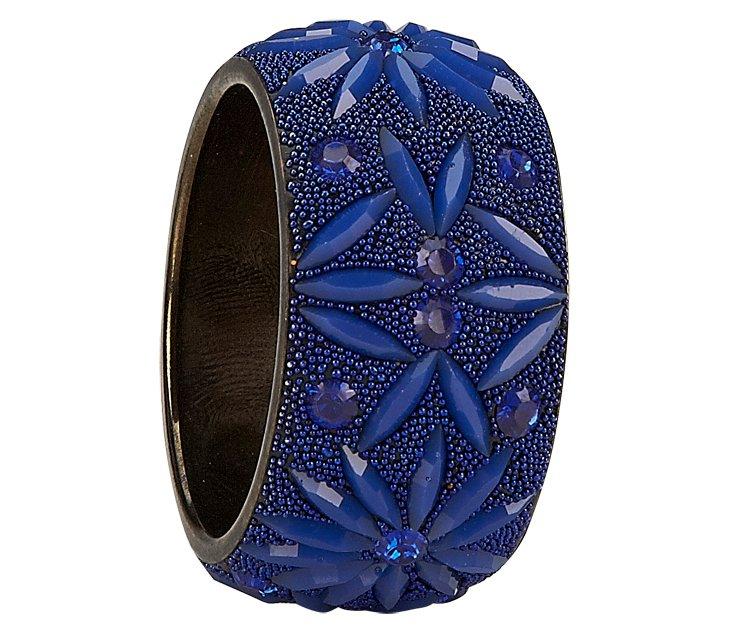 S/4 Opera Napkin Rings, Cobalt Blue
