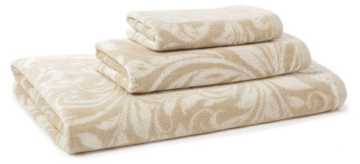 3-Pc Bedminster Scroll Set, Crème Brulee