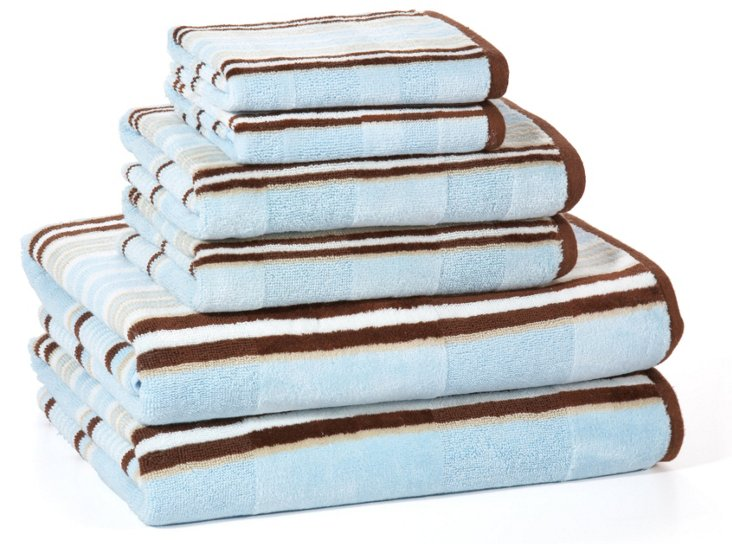 6-Pc Capri Bath Towel Set, Ocean