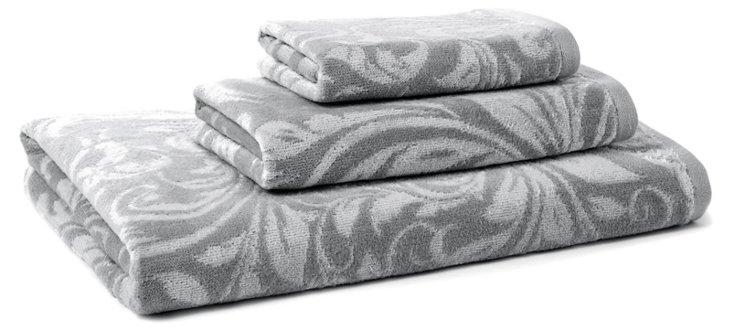 3-Pc Bedminster Scroll Set, Flint Gray