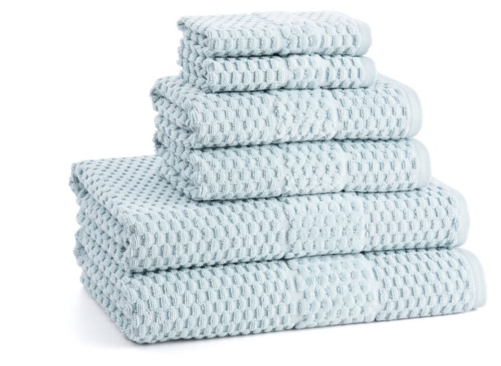 6-Pc San Marco Towel Set, Clearwater Bl