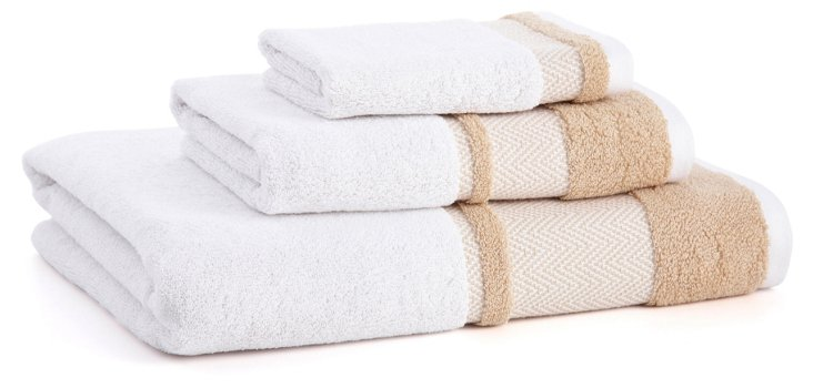 3-Pc Savile Towel Set, Arctic