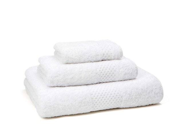 3-Pc Sublime Towel Set, White