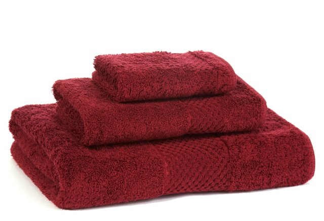 3-Pc Sublime Towel Set, Garnet