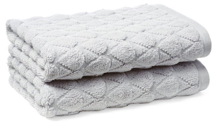S/2 Bristol Hand Towels, Lilac