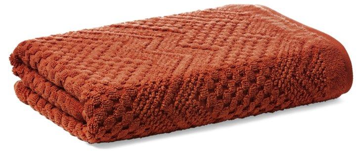 Chateau Bath Towel, Terracotta