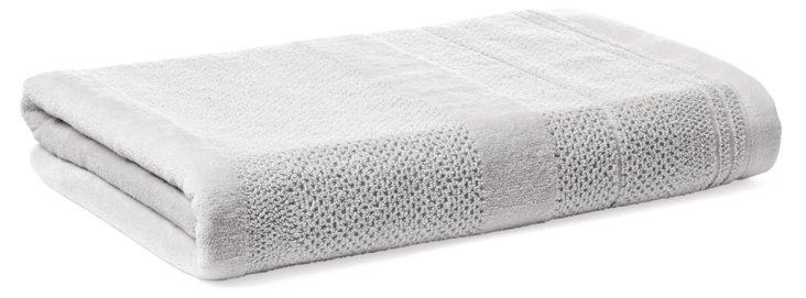 Textures Bath Towel, Silver