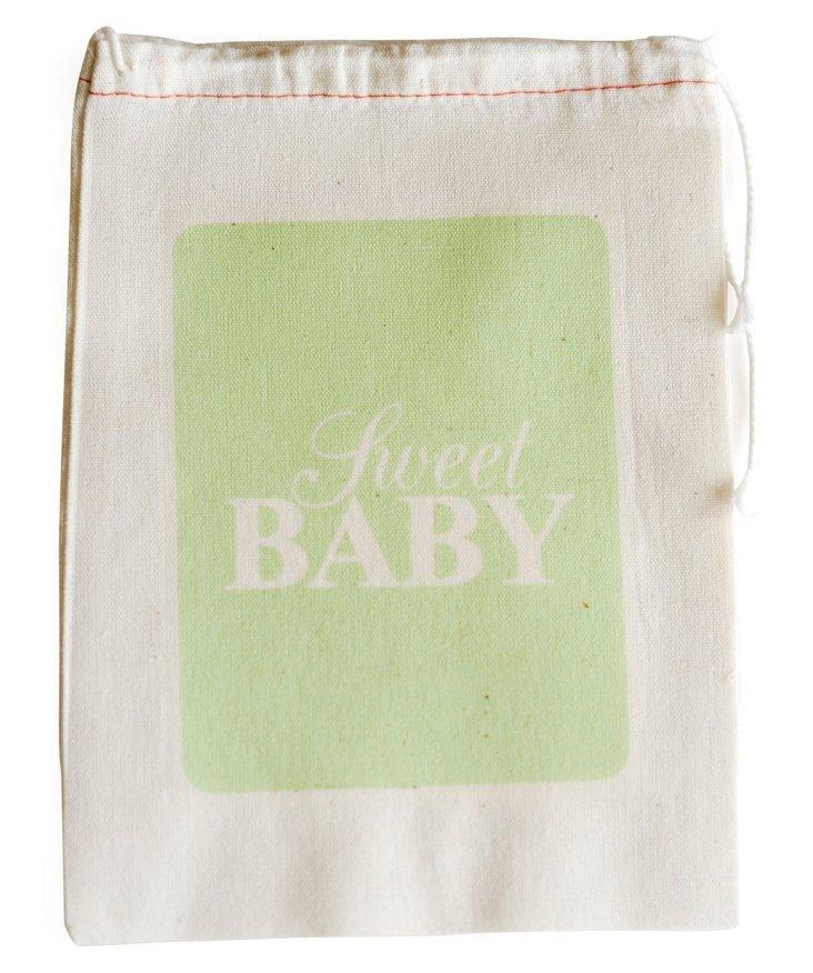 S/6 Sweet Baby Favor Bags, Green