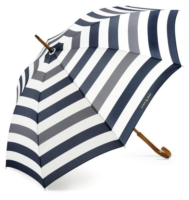 Striped Cane Umbrella