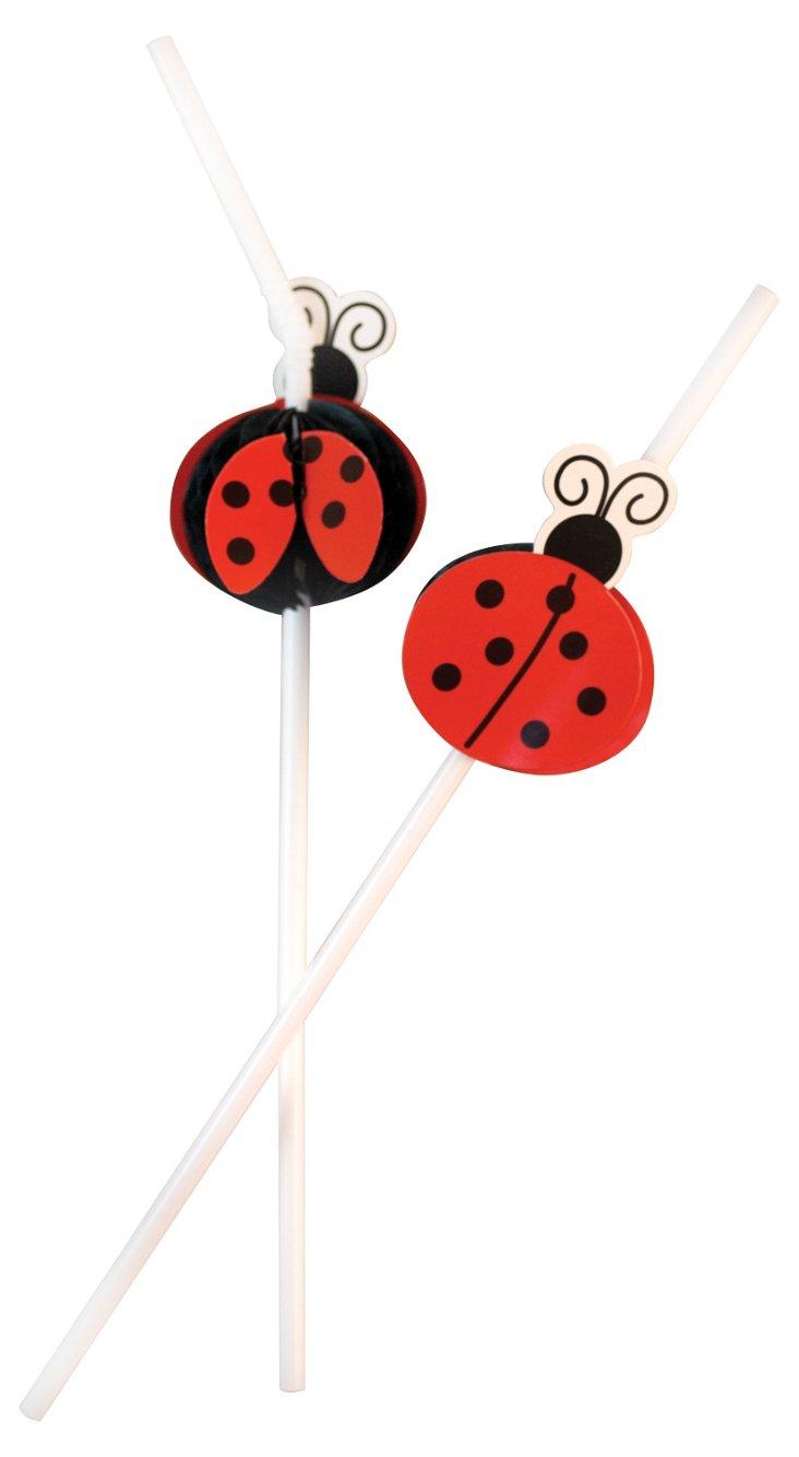 S/48 Ladybug Straws