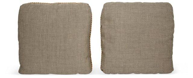 Custom Rogers & Goffigan Pillows, Pair
