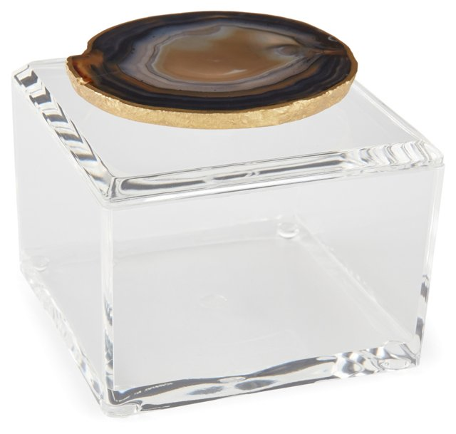Small Acrylic Box w/ Natural Agate