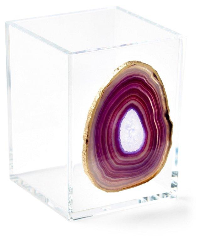 Small Acrylic Vessel w/ Purple Agate
