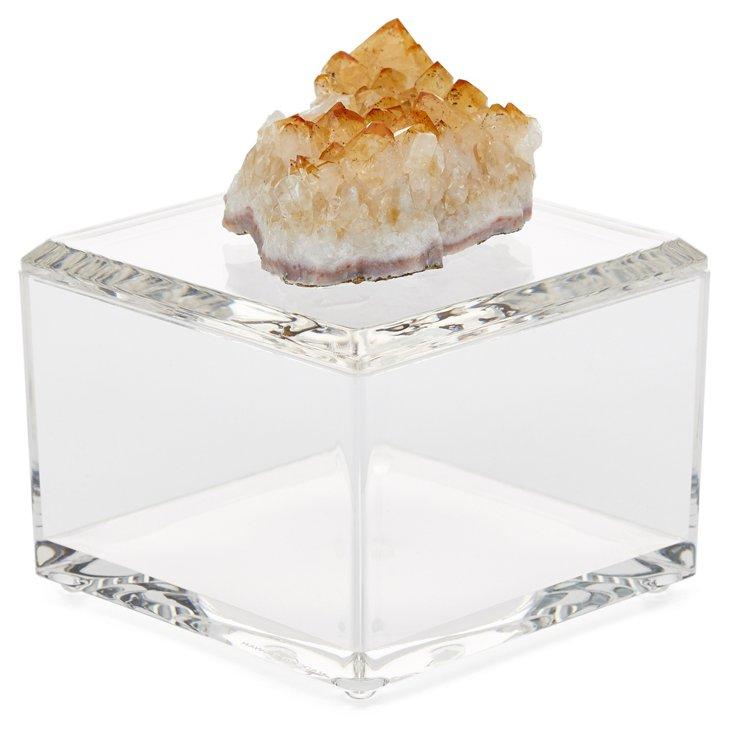 Small Acrylic Box w/ Citrine