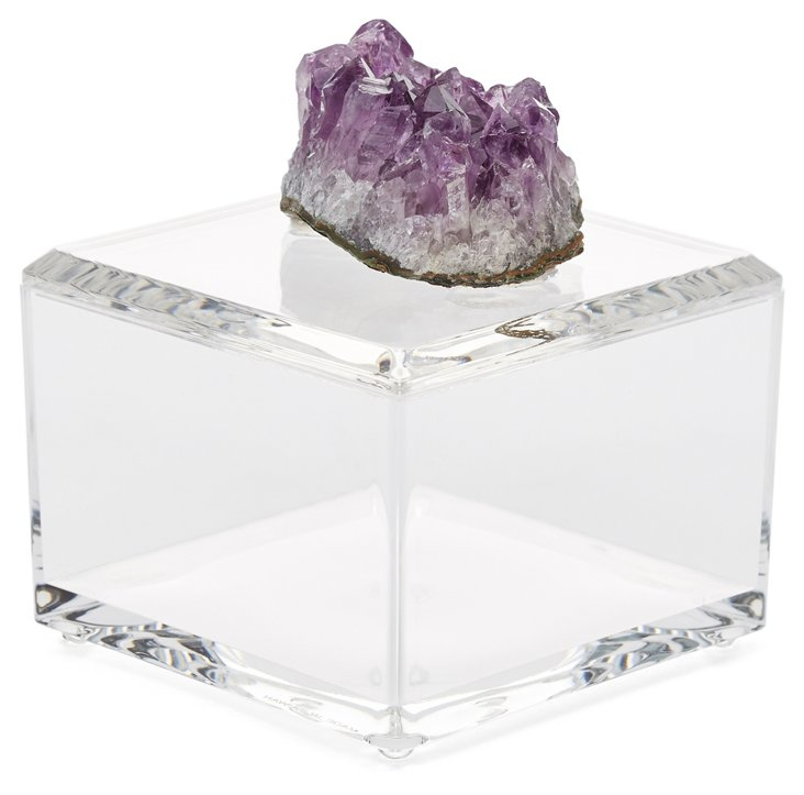 Small Acrylic Box w/ Amethyst