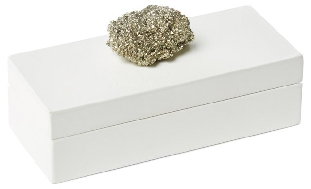 Small White Lacquer Box w/ Pocado
