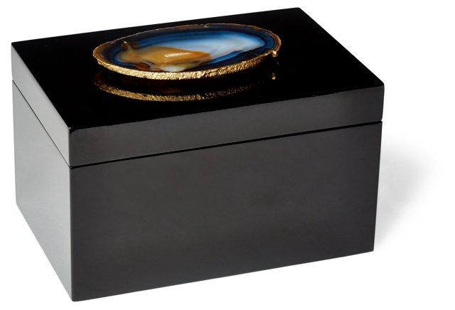 Remote Black Box w/ Natural Agate