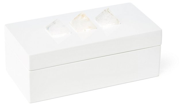 Medium White Box w/ Crystal Pyramid