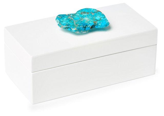 Medium White Box w/ Turquoise Jasper
