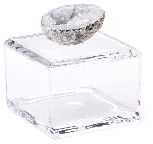 Small Acrylic Box w/ Blue-Gray Geode