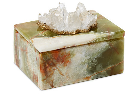 Small Onyx Box w/ Himalyan Crystal