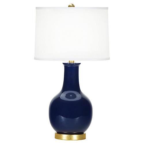 Madison Table Lamp, Lapis Blue