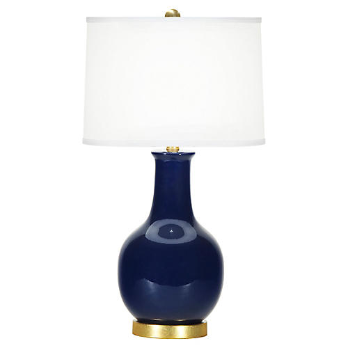 Madison Table Lamp, Lapis Blue
