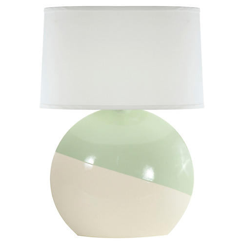 Torrance Table Lamp, Celadon/White