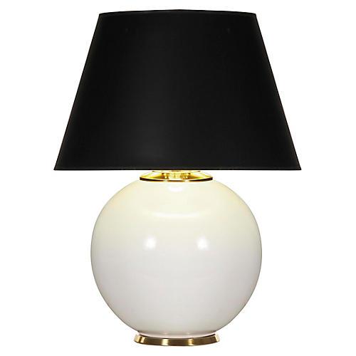 Pomona table lamp white gloss black one kings lane