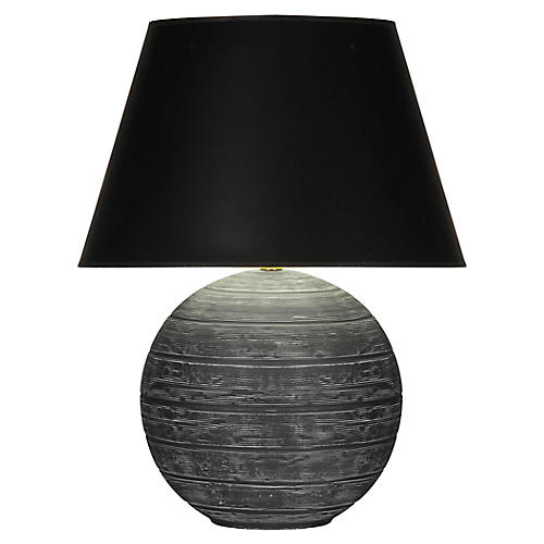 Pomona Table Lamp, Matte Gray/Black