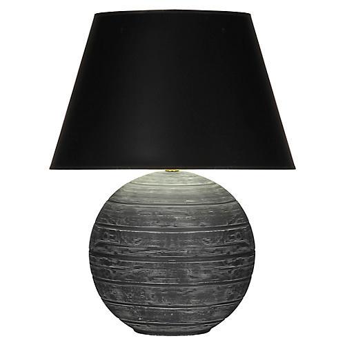 Pomona Table Lamp, Matte Gray/Black