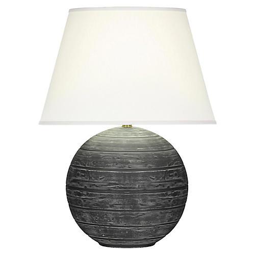 Pomona Table Lamp, Matte Gray/White