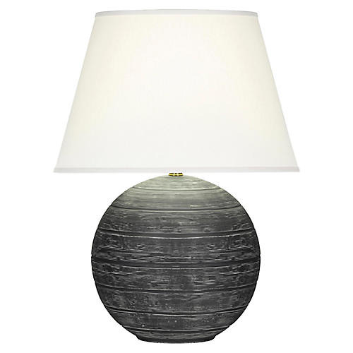 Pomona Table Lamp, Matte Gray/White