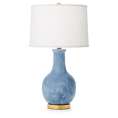 Madison Table Lamp, Crater Blue