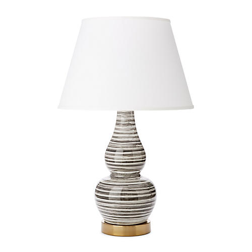 Eureka Table Lamp, White Brushstroke
