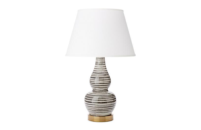 Eureka Table Lamp, White Brushstroke