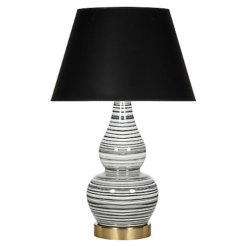 Eureka Table Lamp, Black/White