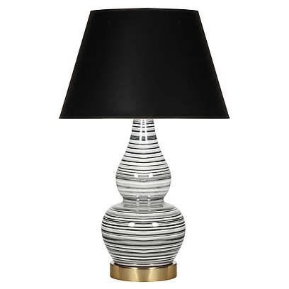 Eureka Table Lamp, Black/White