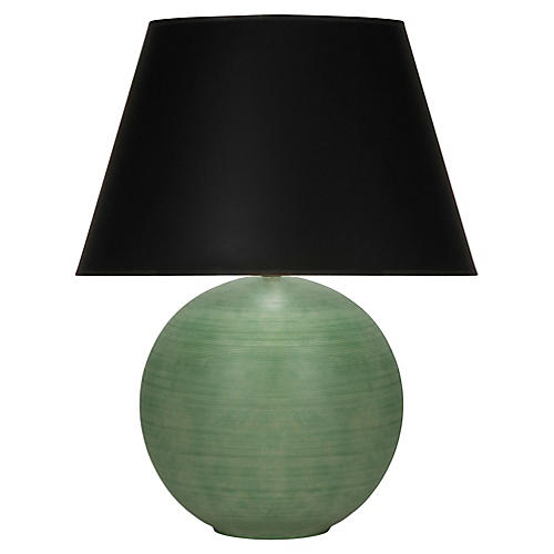 Pomona Table Lamp, Matte Green/Black